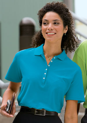 Outer Banks 6092 Ladies Egyptian Diamond Knit Sport Shirt.