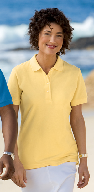 Outer Banks 2400  Ladies Pique Knit Sport Shirt.