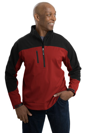 Port Authority® J724 All-Season Soft Shell 1/2-Zip ...