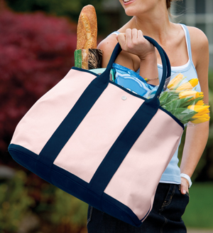 Port Authority B460 Canvas Tote with Contrast Handles.