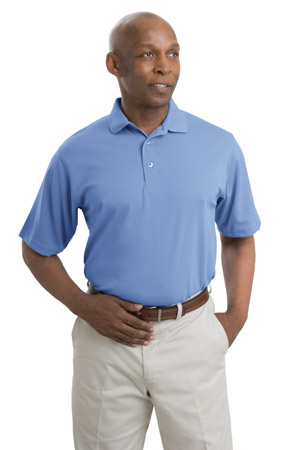 Port Authority K494 Dry Zone Solid Herringbone Sport Shirt.