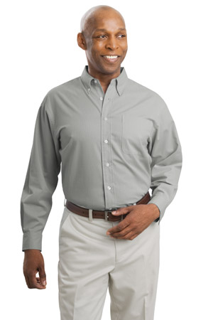 Port Authority® S615 Fine-Pattern Long Sleeve Easy Care Shirt
