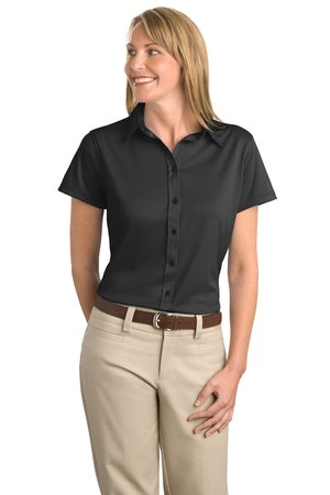 Port Authority® L495 Ladies Dry Zone™ Herringbone Sport Shirt
