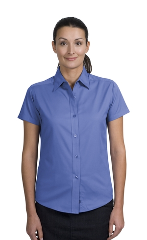 Port Authority® L508 Ladies Short Sleeve Easy Care ...