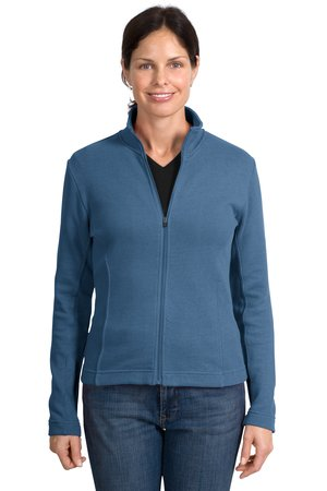 Port Authority® L221 Ladies Flatback Rib Full-Zip ...