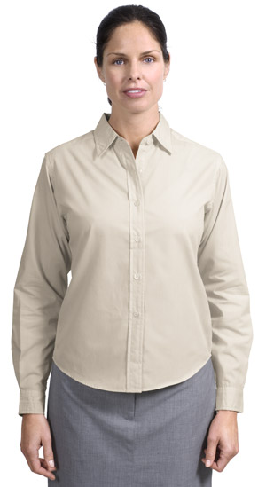 Port Authority® L607 Ladies Long Sleeve Easy Care,...