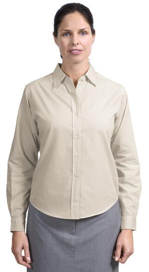 Port Authority® L607 Ladies Long Sleeve Easy Care, Soil Resistant Shirt.