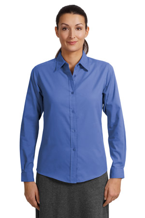 Port Authority® L608 Ladies Long Sleeve Easy Care ...