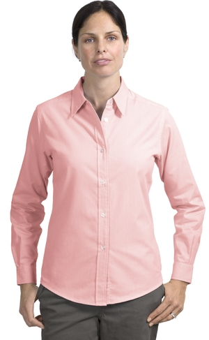 Port AuthorityLadies Long Sleeve Fine-Pattern Easy Care Shirt.