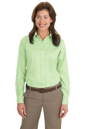 Port Authority® L638 Ladies Long Sleeve Non-Iron ...