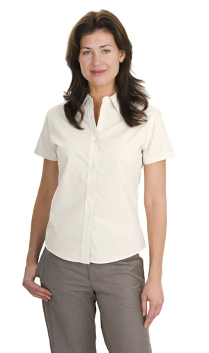 Port AuthorityLadies Short Sleeve Easy Care, Soil Resistant Shirt.