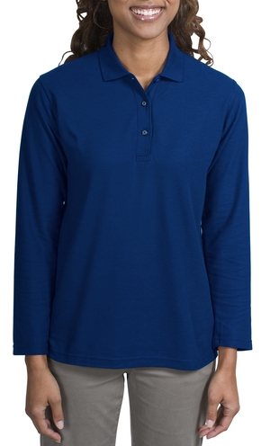 Port AuthorityLadies Silk Touch Long Sleeve Sport Shirt.
