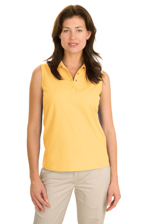 Port Authority® L500SVLS Ladies Silk Touch™ Sleeveless Polo