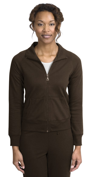 Port AuthorityLadies Silk Touch Mesh Knit Full Zip Jacket.