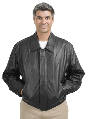 Port Authority® J780 Leather Bomber Jacket