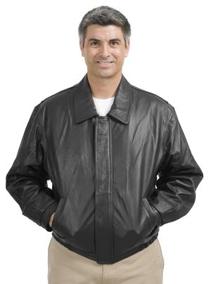 Port Authority® J780 男士皮衣内部口袋外套