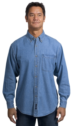 Port Authority® S600 Long Sleeve Denim Shirt