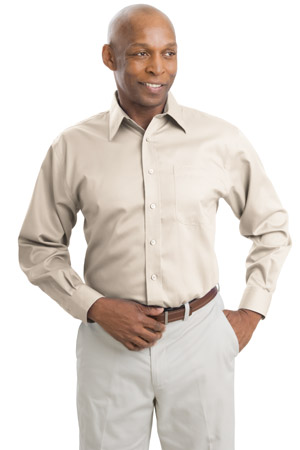 Port Authority® S638 Long Sleeve Non-Iron Twill ...