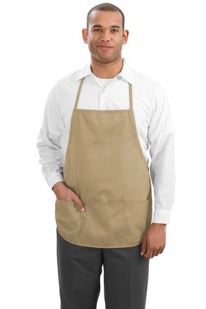 Port Authority Mens Medium Length Apron with Pouch Pockets