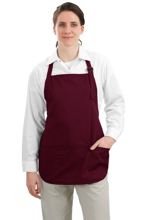 Port Authority® A510 Medium Length Apron with Pouch ...