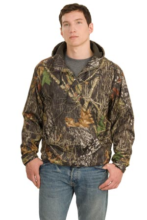 Port Authority J746 Mossy Oak 1/2-Zip Pullover Hooded Jacket.