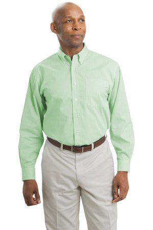 Port Authority® S614 Patterned Long Sleeve Easy Care Shirt