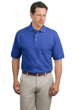Port Authority® K420P Pique Knit Polo with Pocket