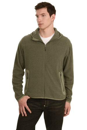 Port Authority Signature F105 Activo Hooded Microfleece Jacket.