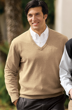 Port Authority® SW275 Fine-Gauge V-Neck Sweater