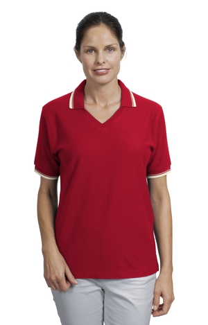 Port Authority® L431 Ladies Cool Mesh™ Polo with Tipping Stripe Trim