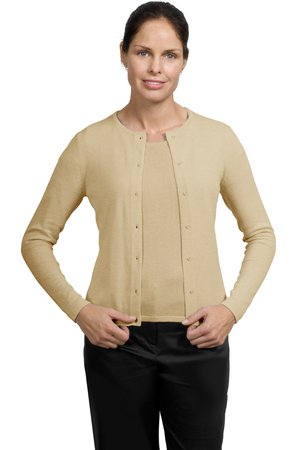 Port Authority® LSW280 Ladies Fine-Gauge Crewneck Cardigan Sweater