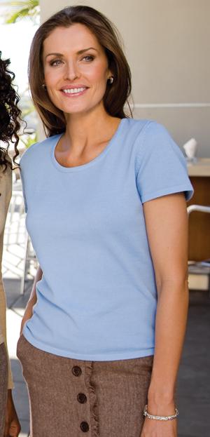 Port Authority® LSW282 Ladies Fine-Gauge Short Sleeve ...