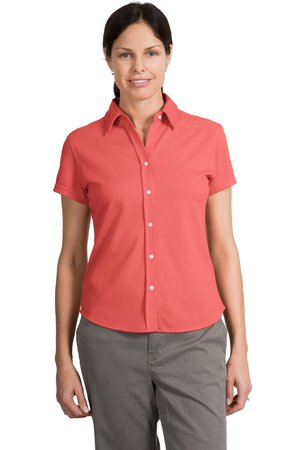 Port Authority® L451 Ladies Rapid Dry™ Button-Front Sport Shirt
