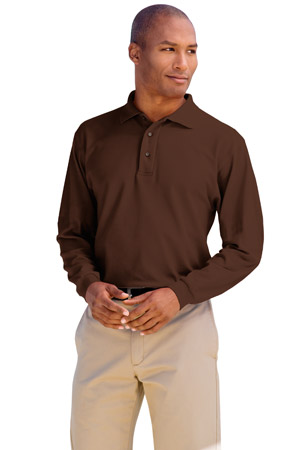 Port Authority® K500LS Long Sleeve Silk Touch™ ...