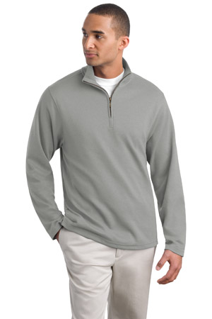 Port Authority K506 Silk Touch  Mesh Knit 1/4 Zip Pullover.