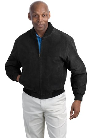 Port Authority® J782 Sueded Leather Letterman Jacket