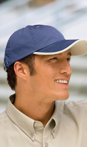 Port Authority® UBWT Twill Cap with Contrast Visor ...