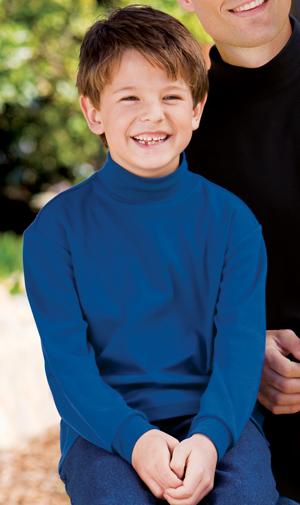 Port Authority® Y321 中青年青少年连锁边编织高领套头毛衫