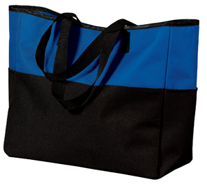 Port & CompanyBi-Color Tote with Zippered Pocket.