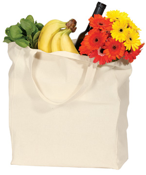 Port & Company B175 Budget Grocery Tote.