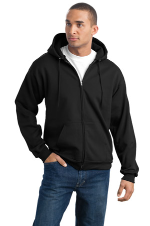 Port & Company® PC90ZH Tall Ultimate Full-Zip Hooded ...