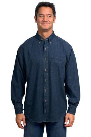 Port & Company® SP10 Long Sleeve Value Denim Shirt