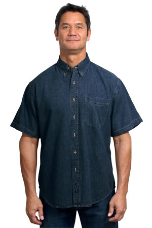 Port & Company® SP11 Short Sleeve Value Denim Shirt
