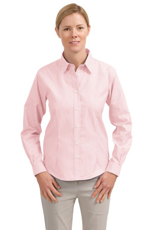 Red House® RH41 Ladies Stripe Non-Iron Button-Down ...