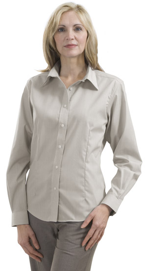 Red House® RH46 Ladies Tonal Plaid Non-Iron Button-Down Shirt