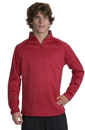 Sport-Tek® F243 Sport-Wick®四分之一拉链磨毛布毛线套衫