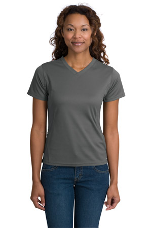 Sport-Tek® L468V Dri-Mesh® Ladies V-Neck T-Shirt