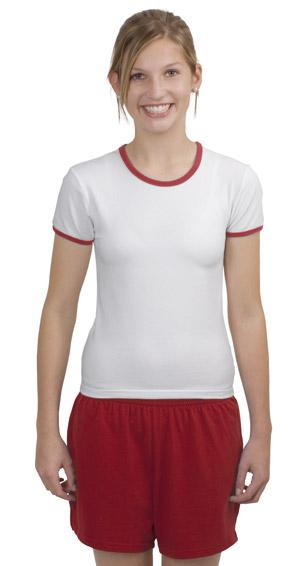 Sport-Tek YL202 Girls Ringer T-Shirt