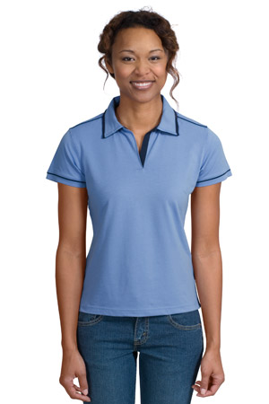 Sport-Tek® L301 Ladies Pima-Tek™ Sport Shirt with Contrast Piping