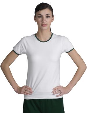 Sport-Tek L202 Ladies Ringer T-Shirt.